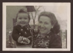 Close-up portrait of Miriam Glasrot and her daughter Nechama.