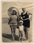 Gerald Liebenau and his parents vacation on the beach in Narva Joesuu, Estonia.