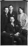 Prewar portrait of the Starkopf family.  Pictured are Miriam and Max Starkopf with their children Adam and Henry.
