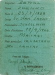 Membership card issued to Zdenko Bergl (and signed by him) for the Jewish youth center at the Cinecitta displaced persons camp.