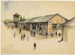 """""""Part of the Lager"""" (Bergen Belsen) by Ervin Abadi."""