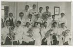 Group portrait of the Department of Obstetrics and Gynecology at Charles University in Prague.