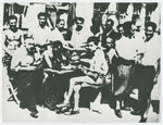 Romanian political prisoners interned in the Gorony camp in Hungary.
