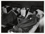 Sick and wounded German POWs rest in a Polish hospital.