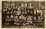 Group portrait of a class ina Polish school in Tomaszow Mazowiecki.