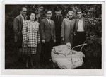 Group portrait of Jewish displaced persons in Leipheim.