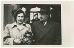 Wedding portrait of Dr. Kurt Grunwald and his second wife Melitta Guthrie.