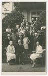 Group family portrait taken to celebrate the engagement of Vilma Eisenstein and Kurt Grunwald.