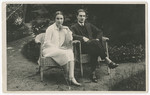 Engagement photograph of Vilma Eisenstein and Kurt Grunwald.