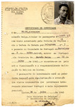Identification papers issued by the Belgian consulate in Portugal issued to Alexander Frank, founder of the Seyre children's home and teacher at Chateau de la Hille.