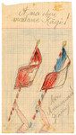 Color child's drawing of flags in Chateau de la Hille wishing Mrs.