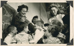 Women and children in the Lindenfels school near Frankfurt.