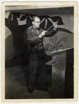 Close-up portrait of Fernand Carion, a Belgian musician and prisoner-of-war.