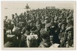 Jewish Brigade soldiers return to Palestine after the disbandment of the Brigade.