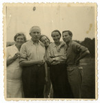 Prewar portrait of members of the the Chason family and friends.
