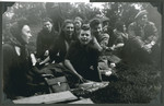 Teenage girls [probably from the Lindenfels children's home] enjoy an outing to Koenigstein Castle.