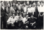 Group portrait of Lithuanian-Jewish partisans after liberation.