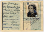 Identification card issued to Gerta Chason Bagriansky in Milan, Italy prior to her travel to the United States.