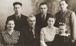 Studio portrait of Jewish DPs in the Cremona displaced persons camp.