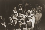 A group of Jewish DP children in the kindergarten of the Cremona displaced persons camp.