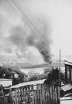 Burning of the Kovno ghetto during liquidation.
