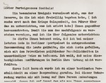 Excerpt from an undated letter by Julius Streicher to Propaganda Minister Joseph Goebbels, in which Streicher asks for Goebbels' support in his feud with Field Marshall Hermann Goering.