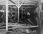 The interior of a barracks in Bergen-Belsen.