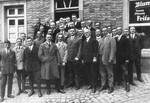 Adolf Hitler and Joseph Goebbels pose with local Nazi Party officials in Hattingen.