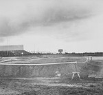 View of the site of mass graves in Bergen-Belsen.
