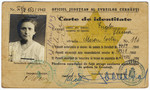 Romanian Jewish identification card with a stamped yellow star issued to Slima Engler.