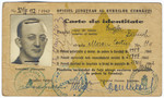Romanian Jewish identification card with a stamped yellow star issued to Baruch Engler.