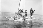 Anna Falco goes sailing in the Adriatic sea with other friends from the Jewish high school while on vacation in Senigallia.