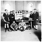 Jewish teenagers attend a vocational ORT school in the Cremona DP camp.