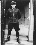 Leopold Pfefferberg poses in his Polish military uniform.