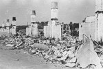 View of the ruins of the Kovno ghetto after its liquidation.