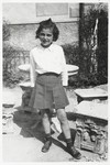 Portrait of ten-year-old Bertha Magid in the Selvino children's home.