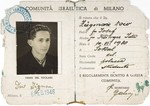 Dov Zugman's identification card as a member of the Jewish community of Milan.