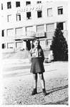 Sara Gelman poses outside the Selvino children's home.