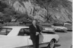 Oskar Schindler in California during a visit to the family of Leopold and Ludmila Pfefferberg-Page.