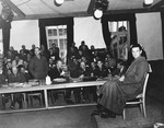 Martin Gottfried Weiss takes the stand in the Dachau trial.