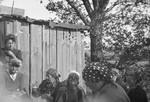 Austrian Jews perform forced labor in a farm in Osterburg, Germany.
