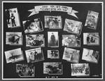 "Display panel from a photo exhibition on the Holocaust entitled ""Even Satan Has not Created Revenge for a Young Child"" created by photographer George Kaddish in a displaced persons' camp."
