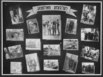 "Display panel from a photo exhibition on the Holocaust entitled, ""Destruction of Religion"" created by photographer George Kaddish in a displaced persons' camp."