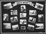 "Display panel from a photo exhibition on the Holocaust entitled ""Their Destructive Work"" created by photographer George Kaddish in a displaced persons' camp."