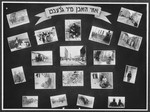 "Display panel entitled ""So we lived"" from a photo exhibition on the Holocaust created by photographer George Kaddish in a displaced persons' camp."