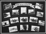 "Display panel entitled ""Isolation from the World"" from a photo exhibition on the Holocaust created by photographer George Kaddish in a displaced persons' camp."